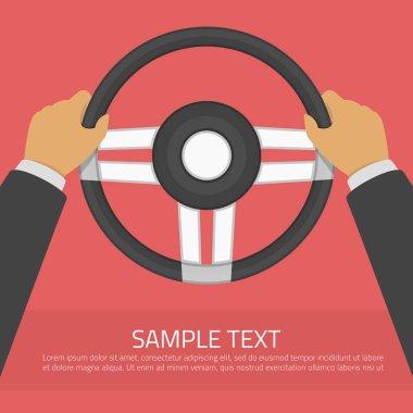 Steering wheel vector illustration.
