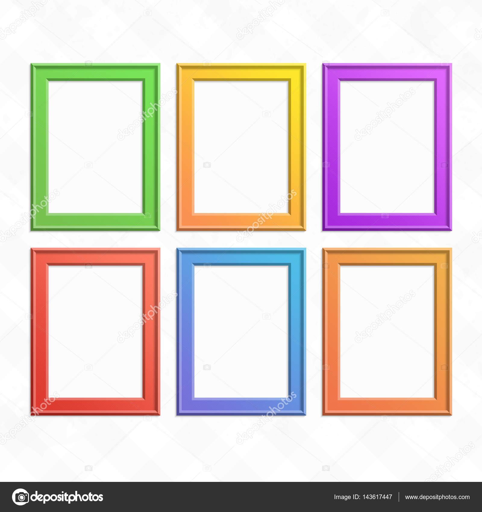 Set of colorful wooden frames. — Stock Vector © art-sonik #143617447