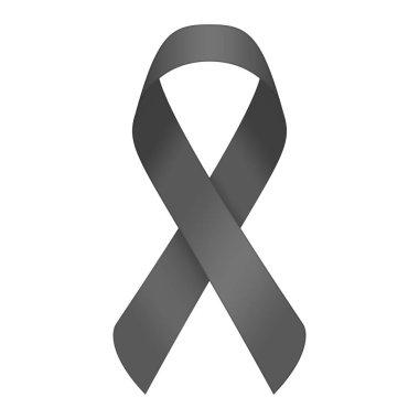 Black mourning ribbon.