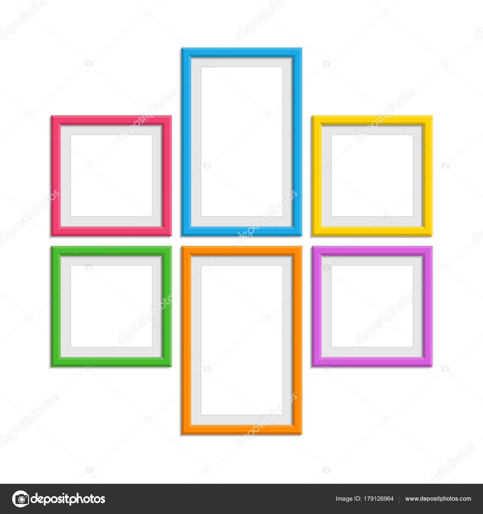 Colored photo frames set. — Stock Vector © art-sonik #179126964