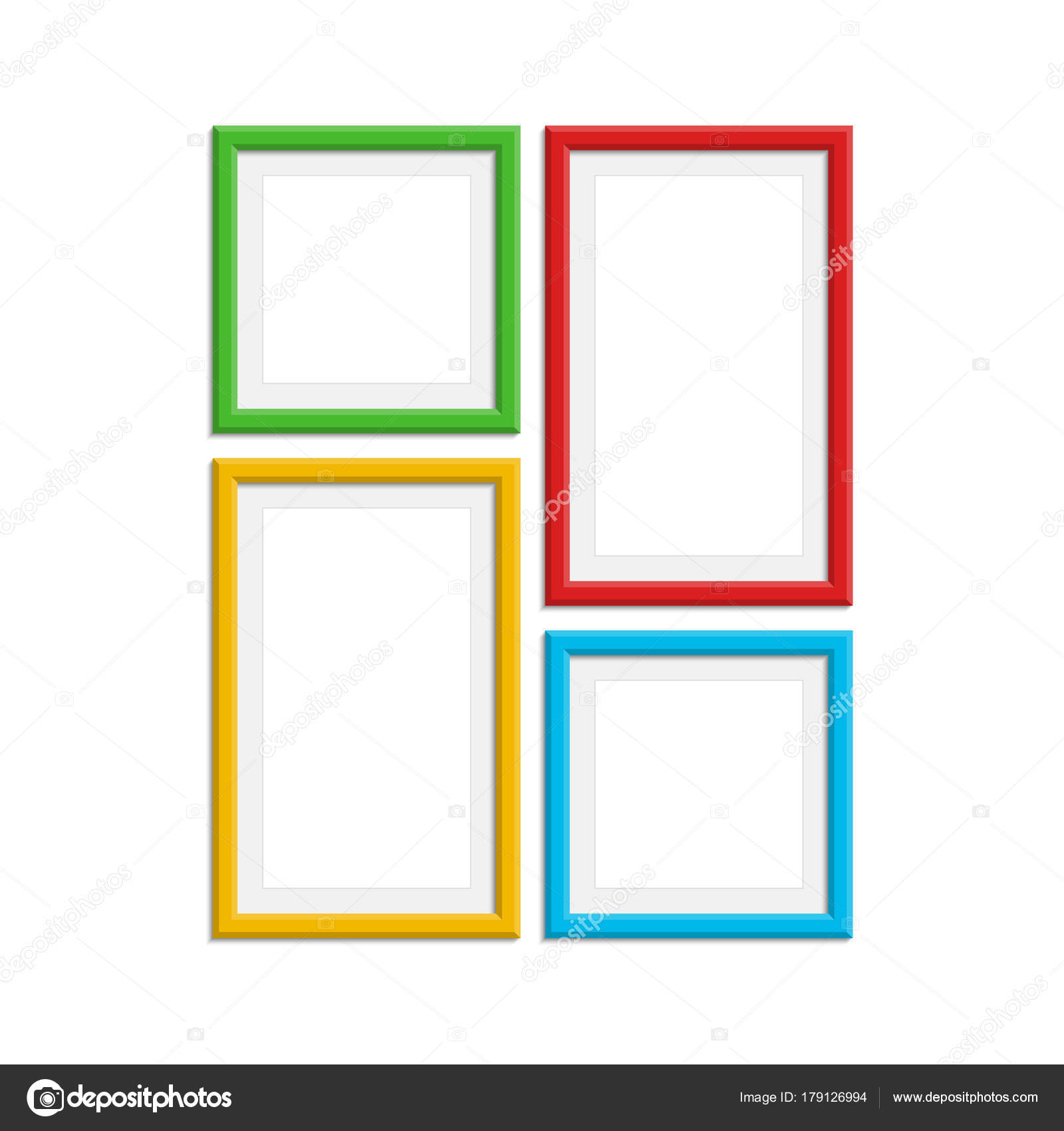 Colored photo frame set. — Stock Vector © art-sonik #179126994
