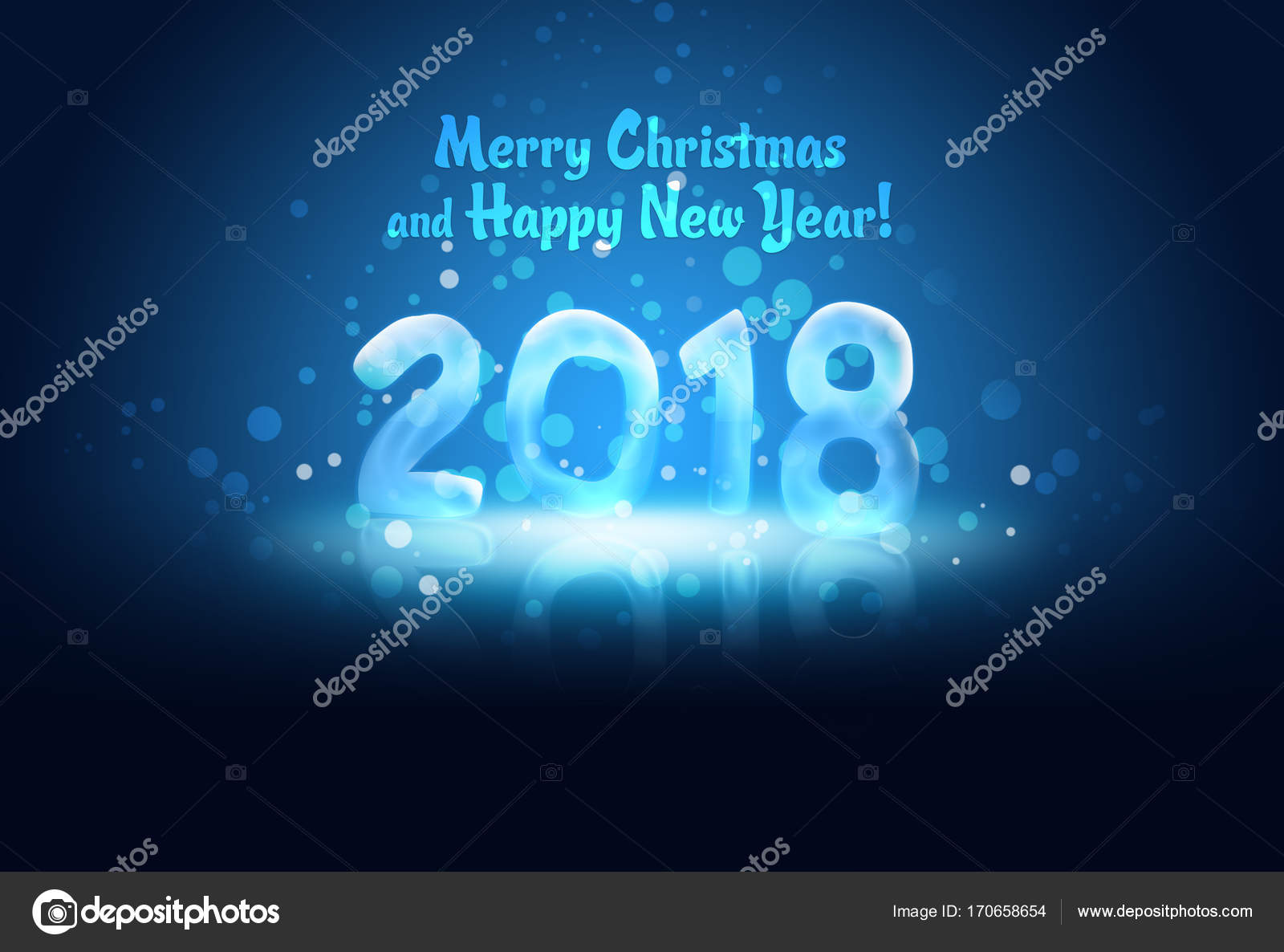 Digital Blue Business New Year Abstract Dark Happy Light