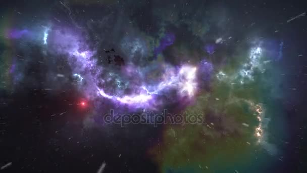 abstract colorful animation with space and stars