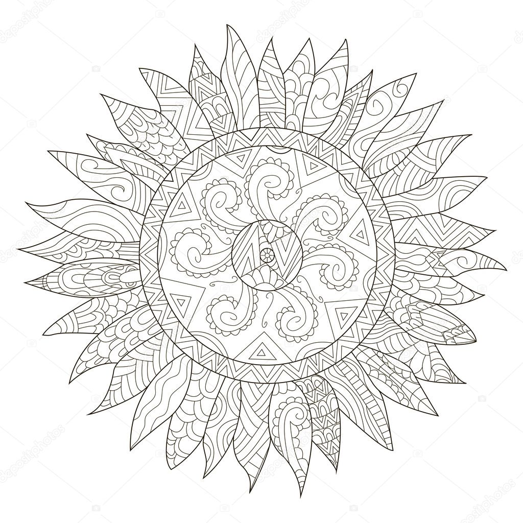 Mandala Sunflower Coloring Pages
