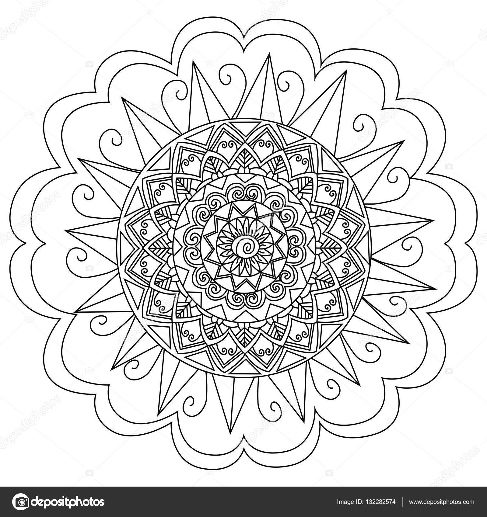Kleurplaten Voor Volwassenen Mandala.Mandala Bloem Vector Kleurplaten Voor Volwassenen