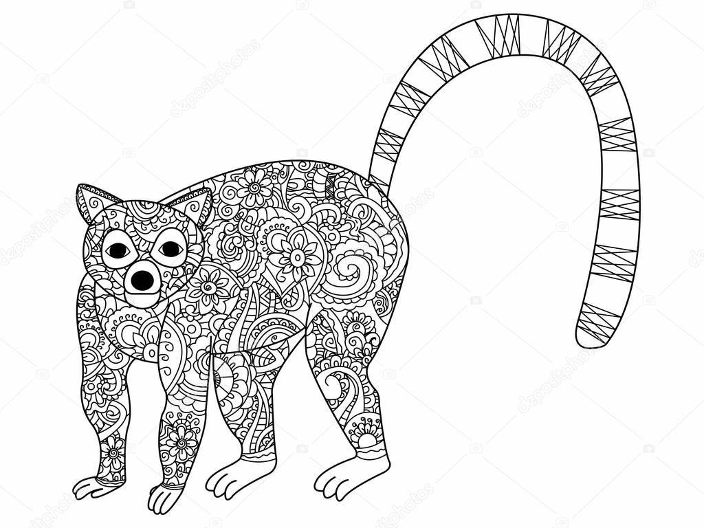 anillo cola de elefante anillo de lemur de cola para