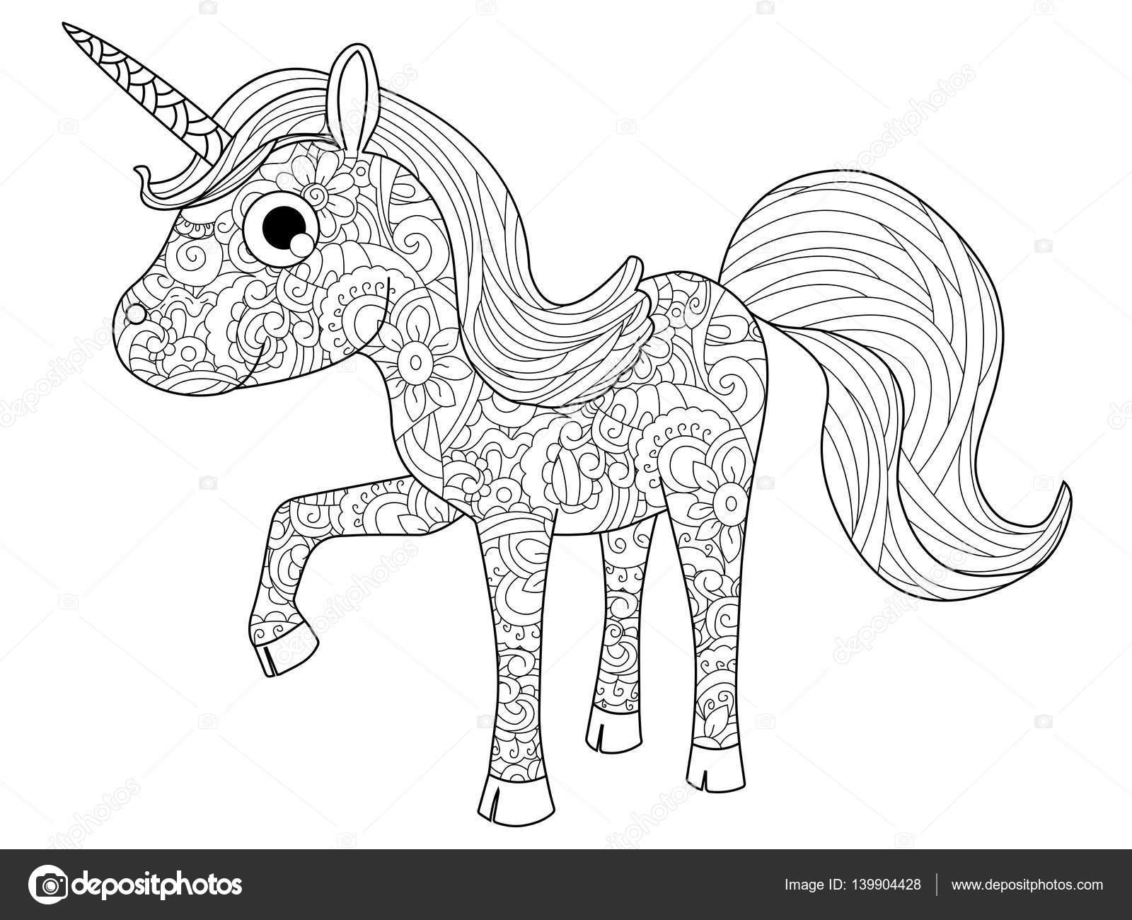 Paarden Met Veulen Kleurplaat Kinderen Speelgoed Unicorn Vector Kleurplaten Voor
