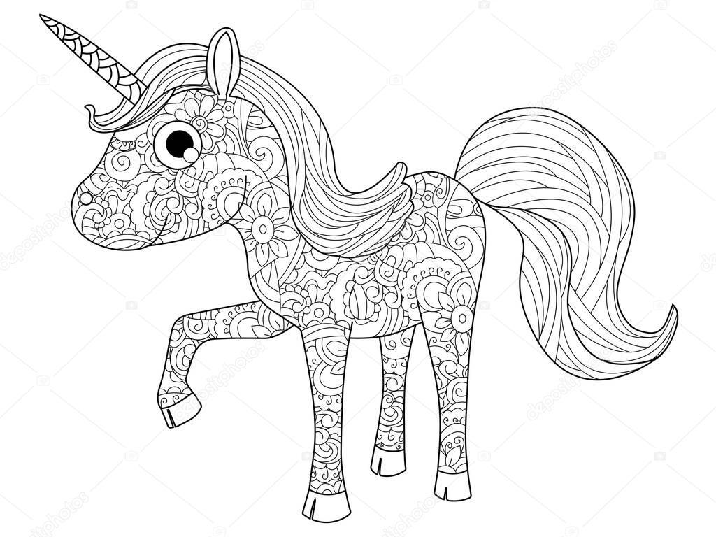 kinderen speelgoed unicorn vector kleurplaten voor