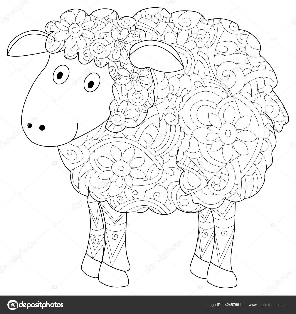 Animales herbívoros en blanco y negro | Vector de libro para
