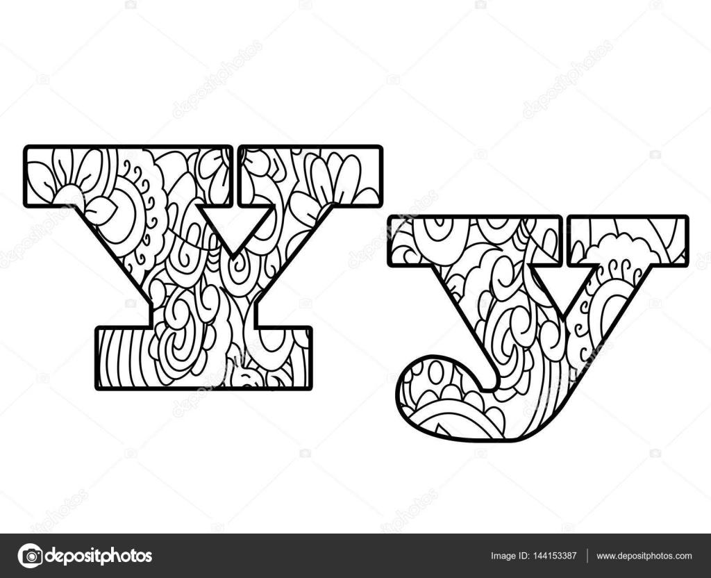 Anti coloriage alphabet livre la lettre y vector illustration image vectorielle toricheks2016 - Alphabet dessin ...