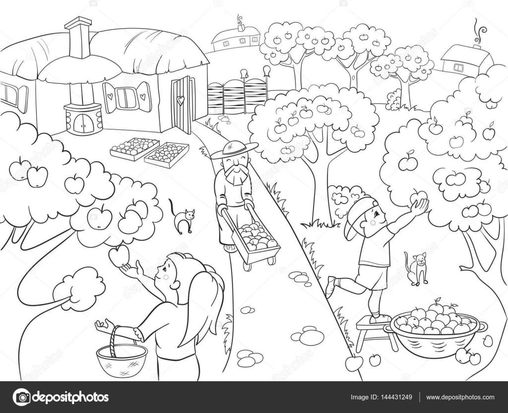 Niños para colorear dibujos animados sobre el tema de vectores de ...