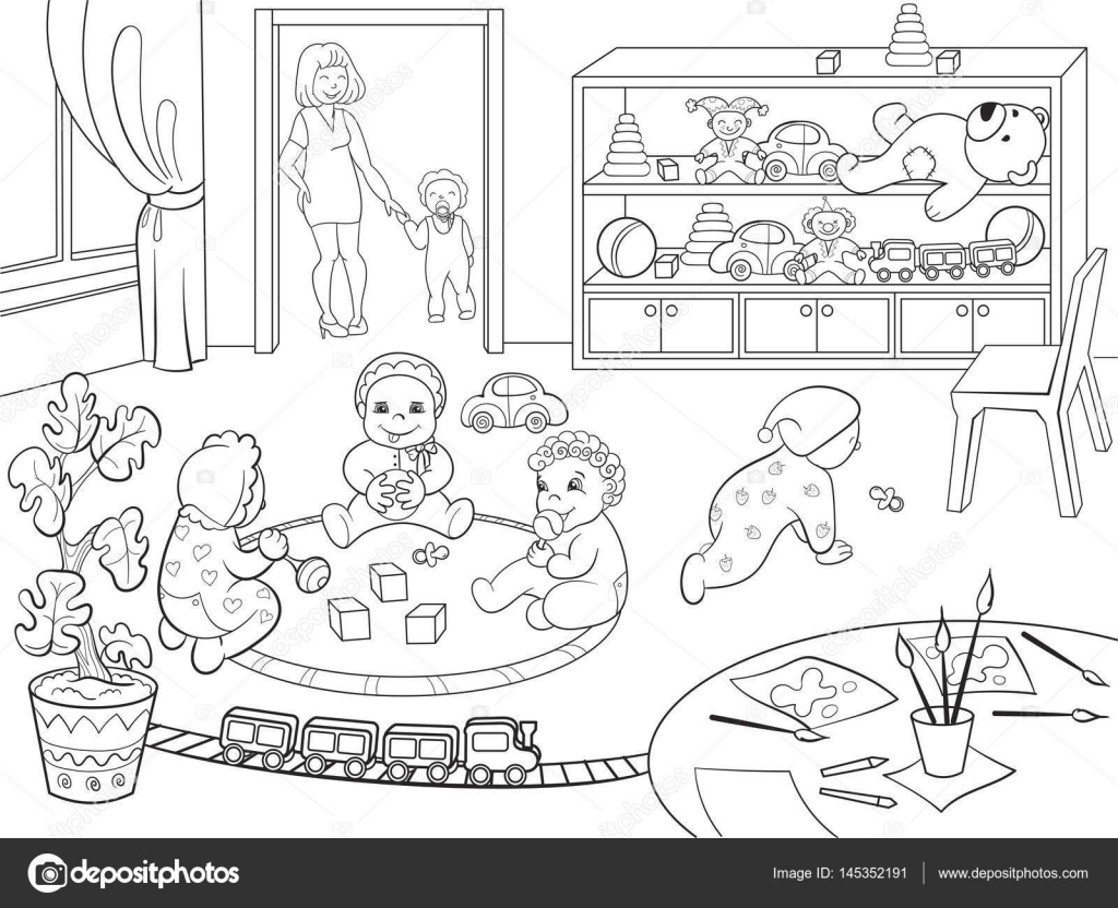 Jardín De La Infancia Libro De Colorear Para Niños Dibujos