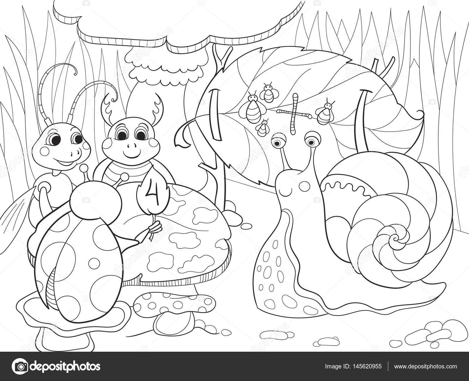 Aprenden de insectos para colorear matemáticas para niños de dibujos ...