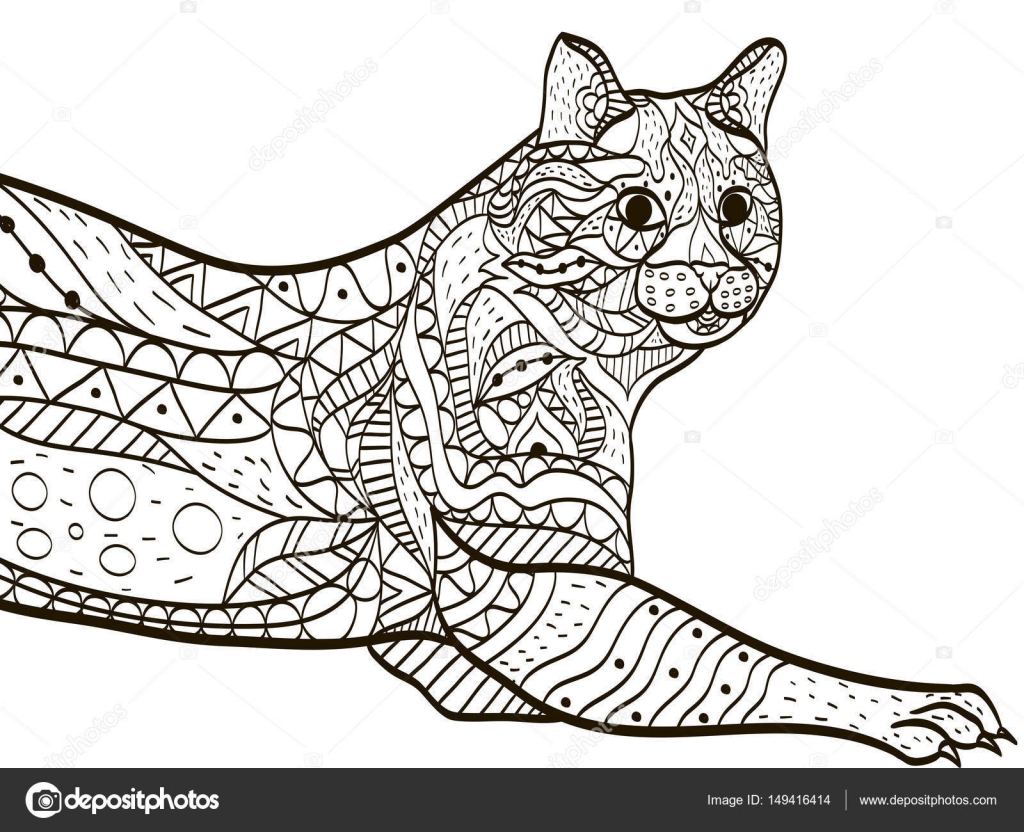 Cat Coloring book vector for adults — Stock Vector © toricheks2016 ...