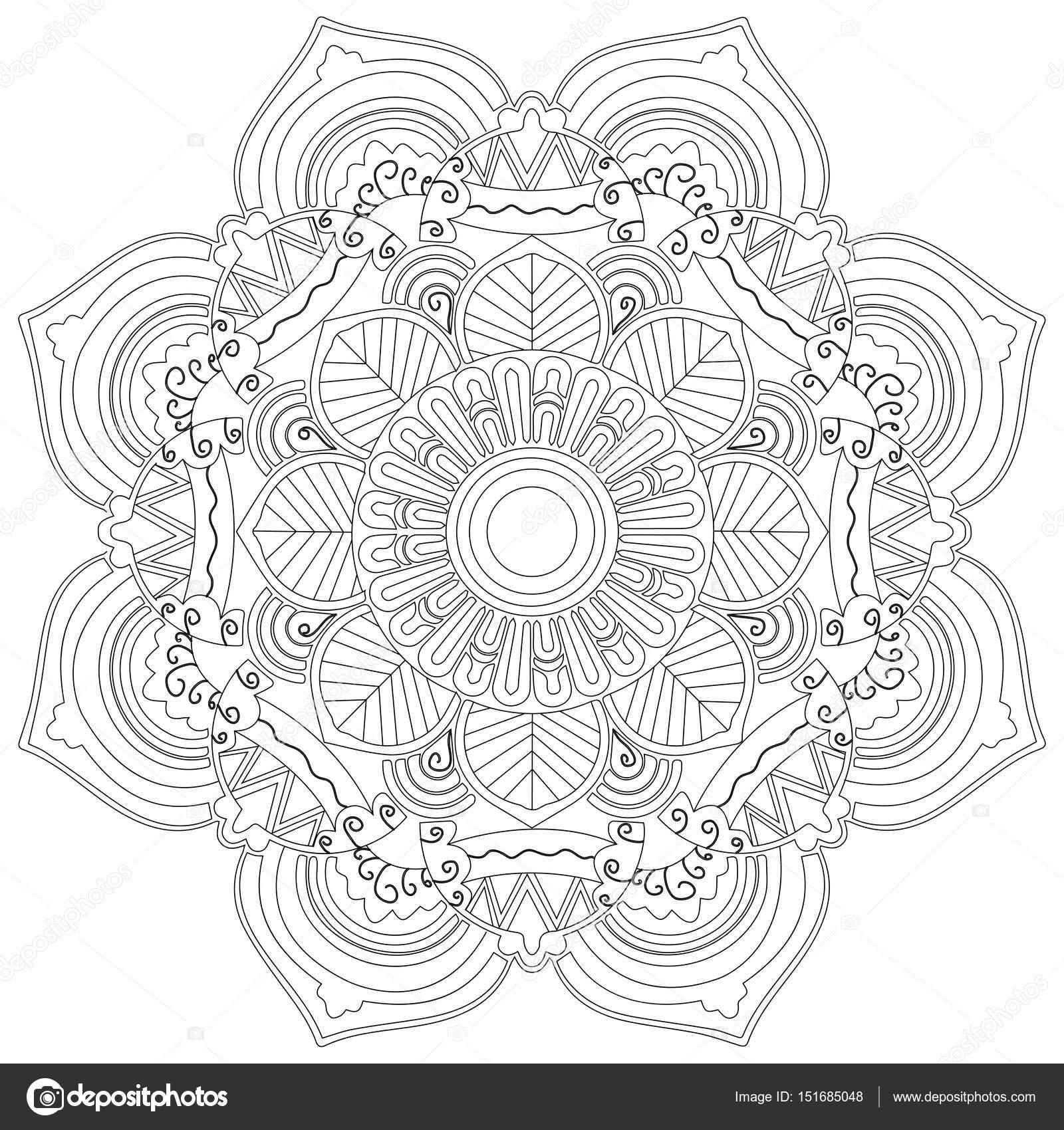 mandala bloem vector kleurplaten voor volwassenen