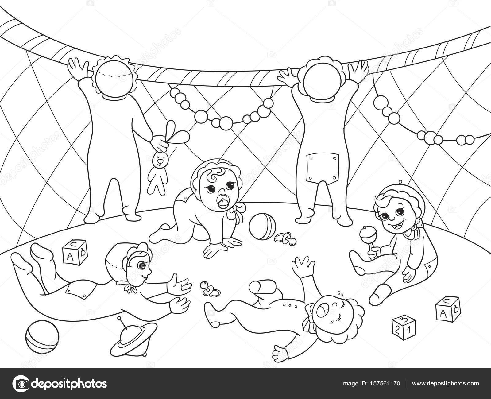 Jardín de la infancia libro de colorear para niños dibujos animados ...