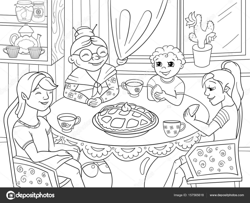 Yemek Odasi Cizim Vektorler Ve Grafikleri Depositphotos