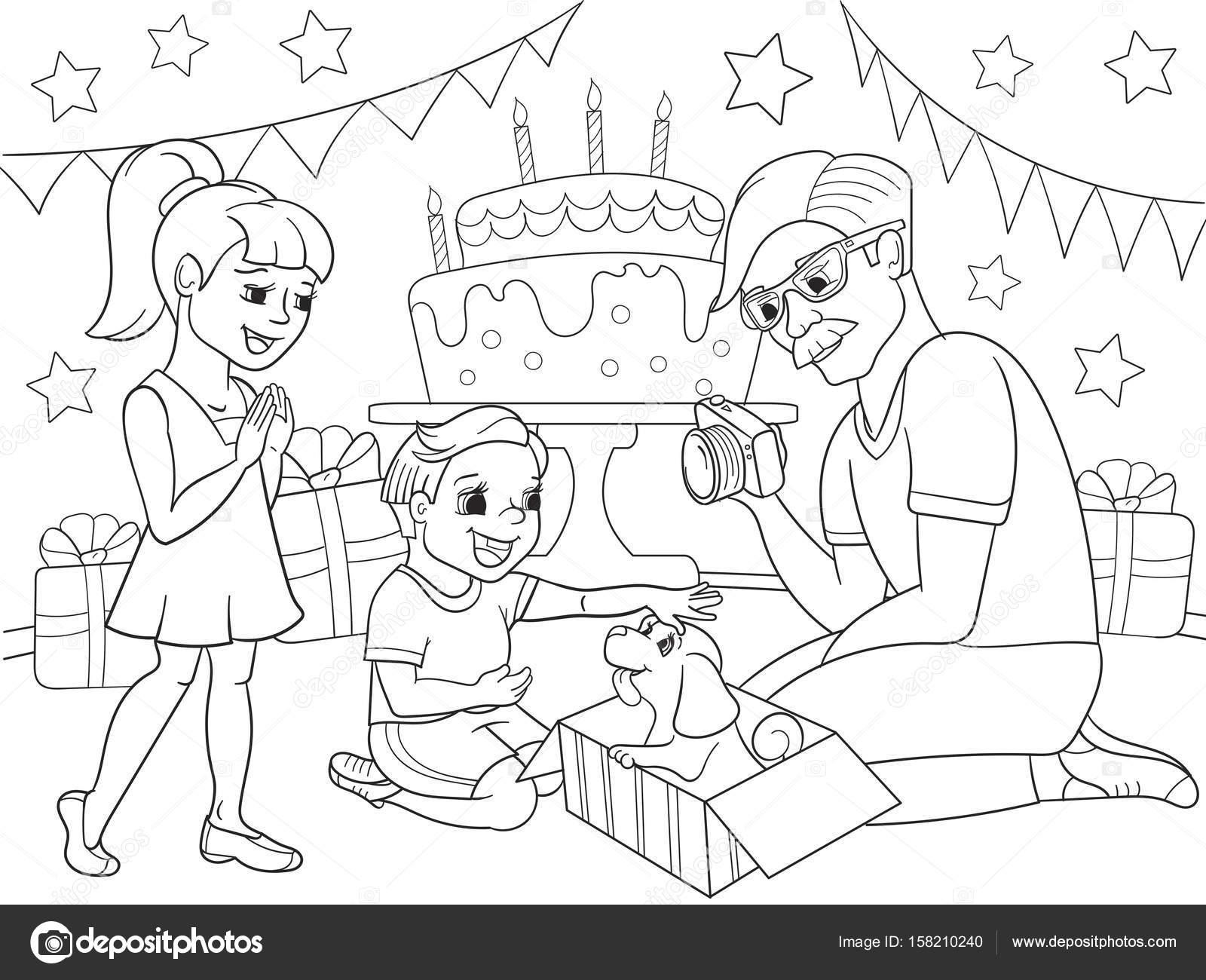 Para niños de dibujos animados para colorear de las vacaciones ...