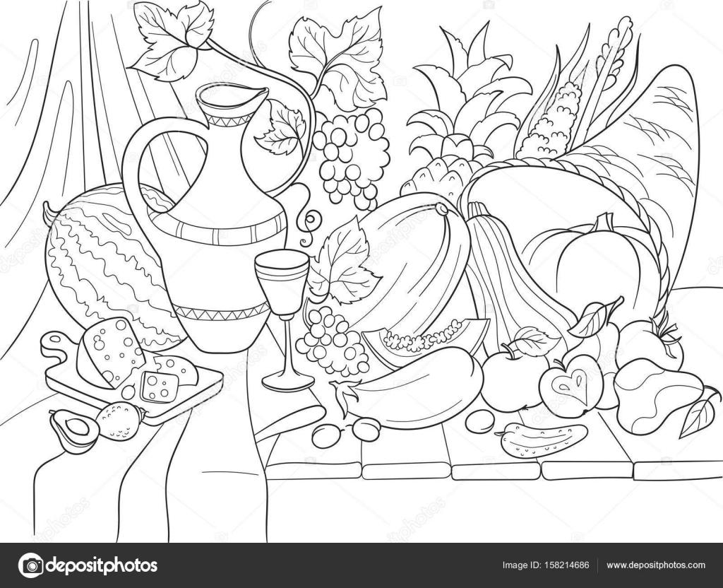 Imágenes Bodegon De Frutas Dibujo Frutas Y Verduras La Cosecha