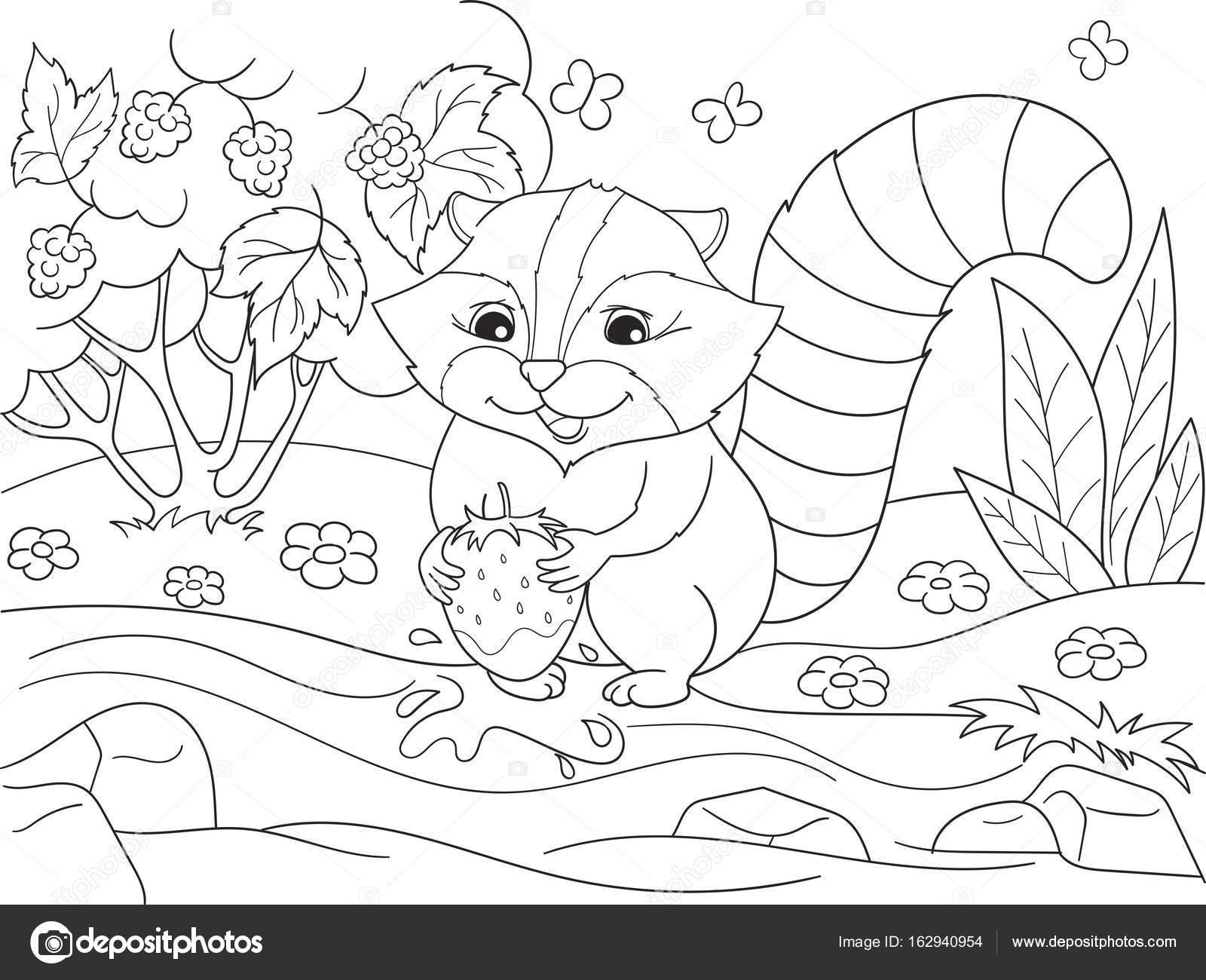 Para colorear dibujos libro naturaleza blanco y negro. Coon y ...