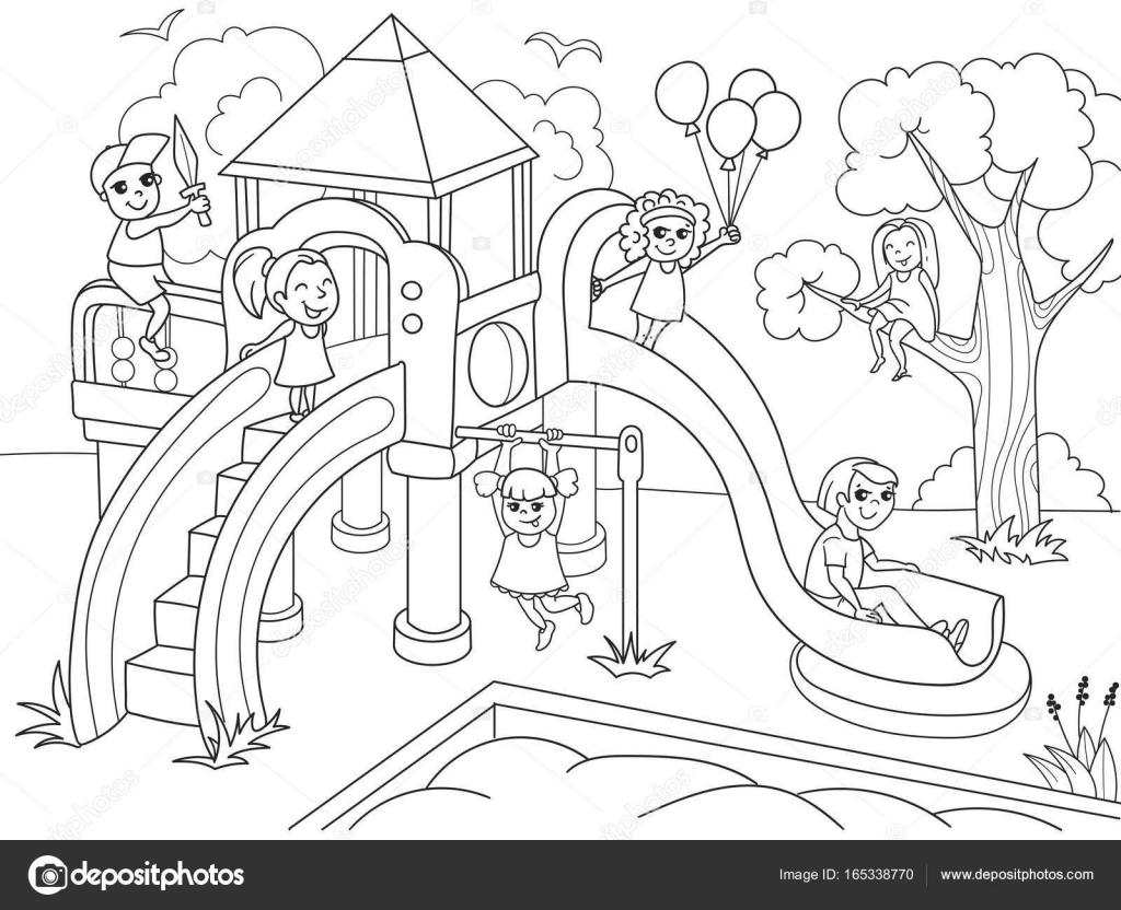 Para colorear de infantil para niños. Ilustración de vector de ...