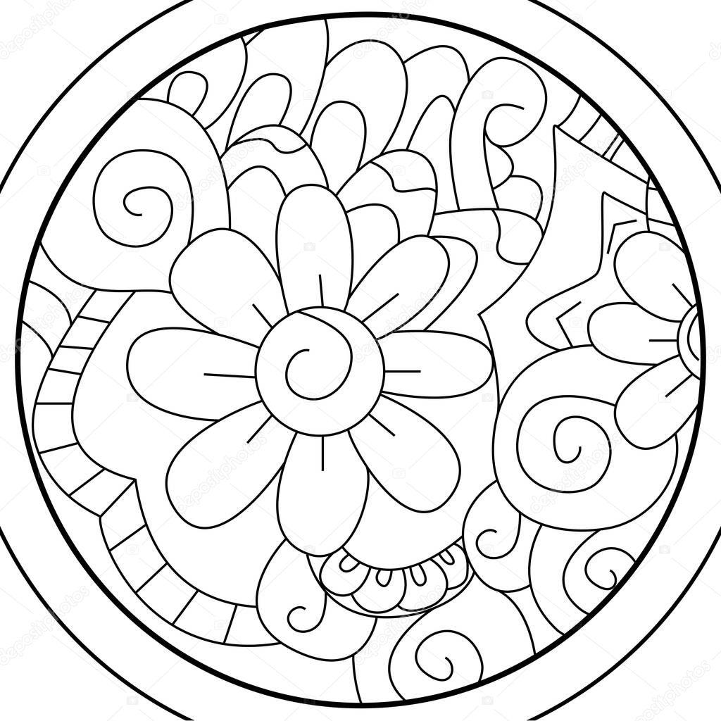 Мандала мяч цветок раскраски растров для взрослых ...