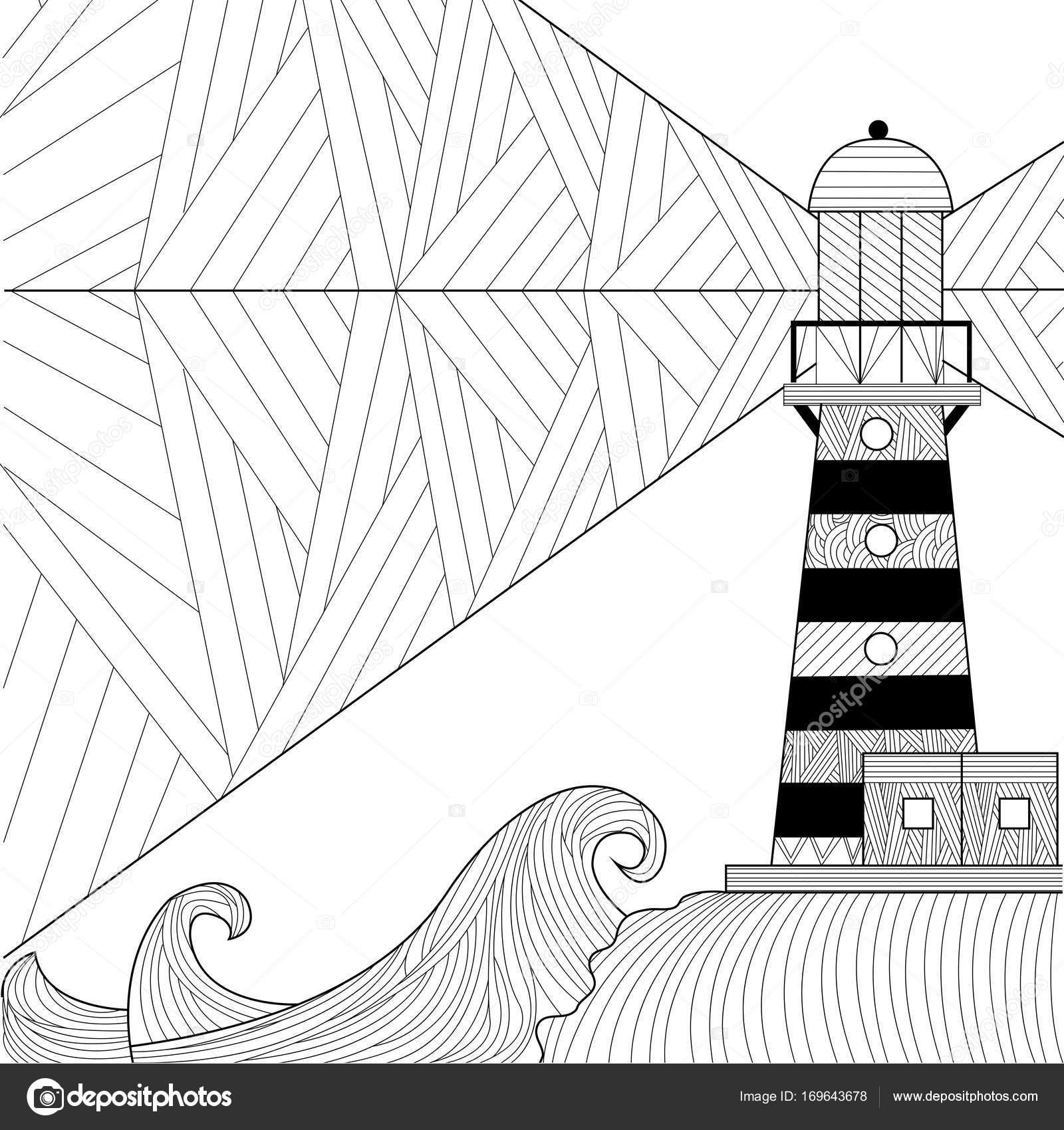 Boyama Kitabı Yetişkin Renklendirme Raster Stres Anti Için Deniz