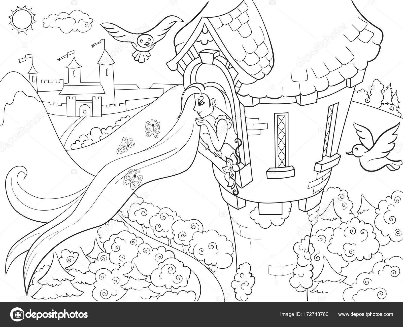 Boyama Resmi Rapunzel Coloring Free To Print
