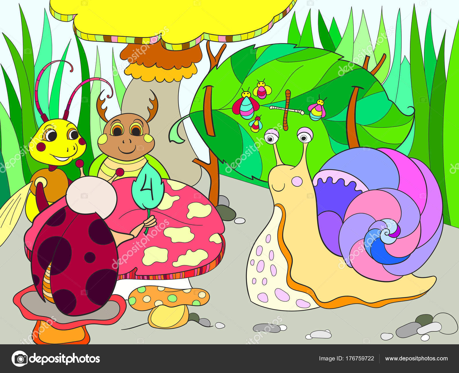 Aprenden De Insectos Para Colorear Matemáticas Para