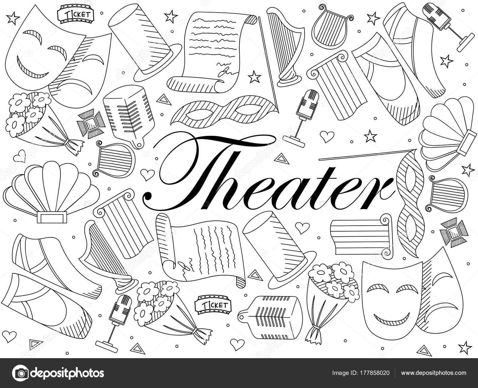 Imágenes Teatro Para Dibujar Ilustración De Vector De Teatro