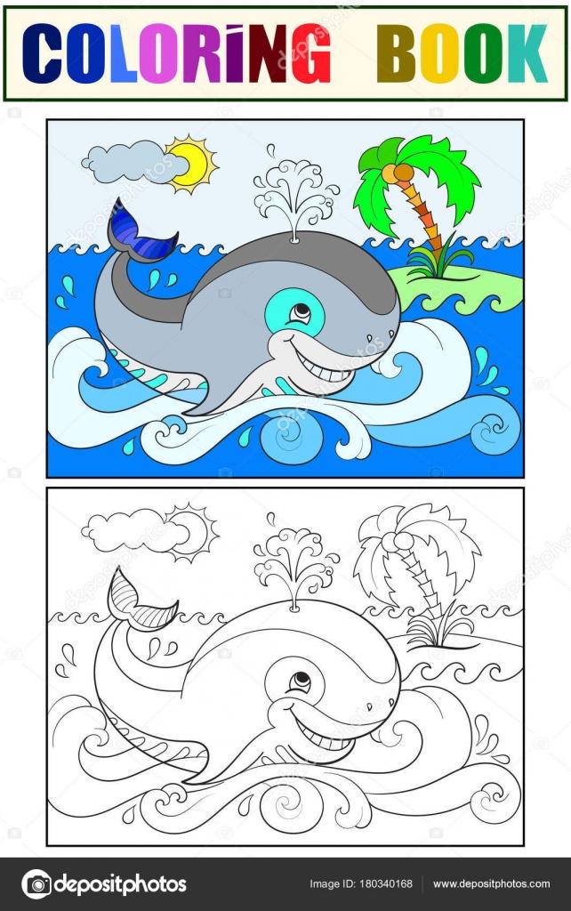 Imágenes: ballena azul para colorear | Ballena azul en un fondo de ...