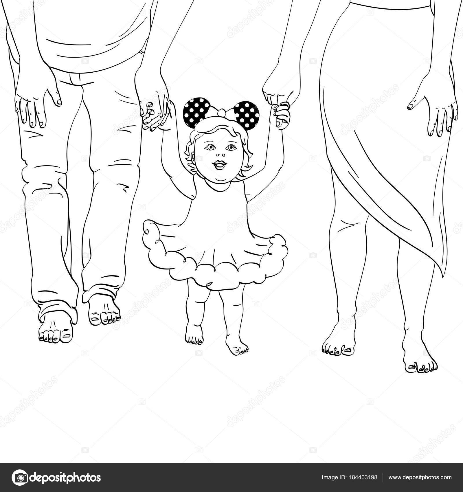 Los primeros pasos del niño. Apoyo a los padres. Colorear ...