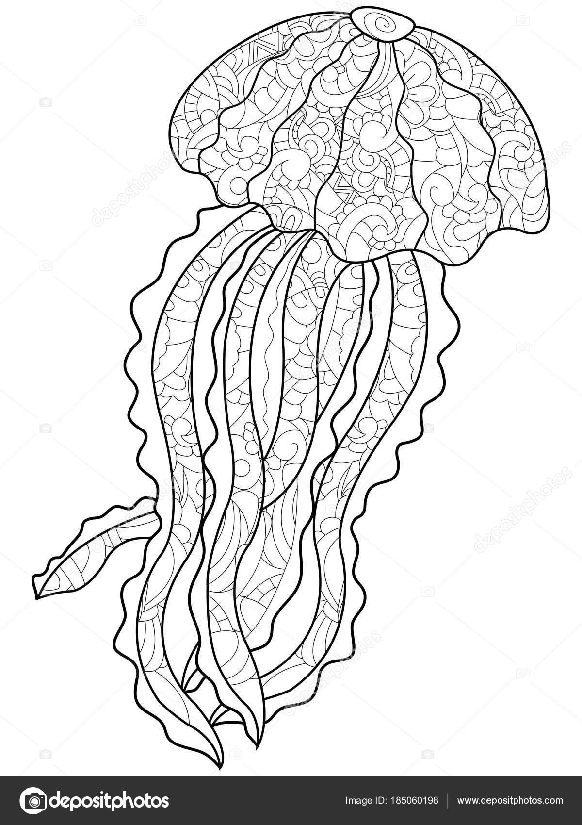 Fotos Medusas Para Imprimir Para Colorear Antiestrés De