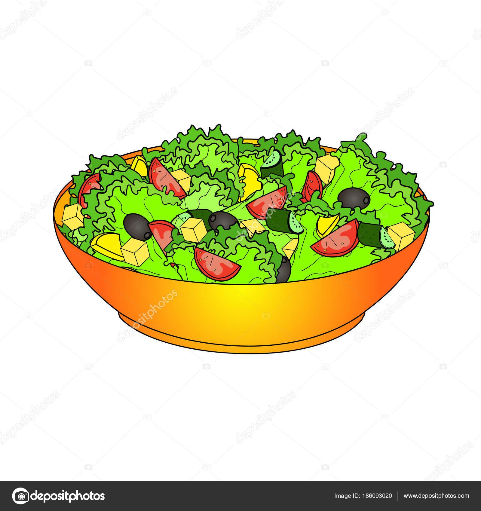 Ensalada De Frutas Dibujo Para Colorear Horiatiki Ensalada