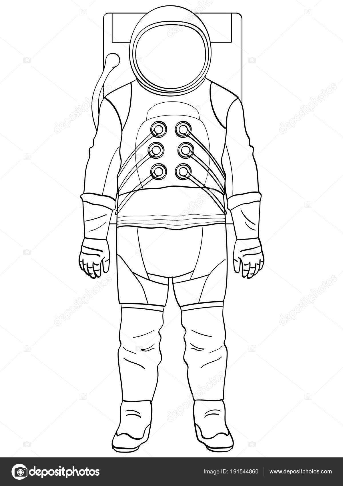 uma astronauta de homem em um terno é isolada objeto em fundo