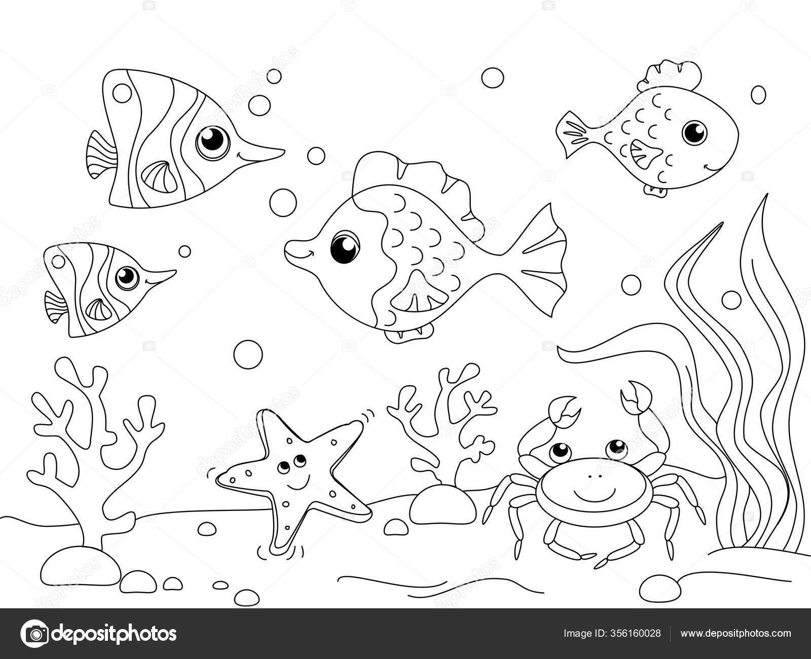 kinder malen. die unterwasserwelt, der grund des ozeans