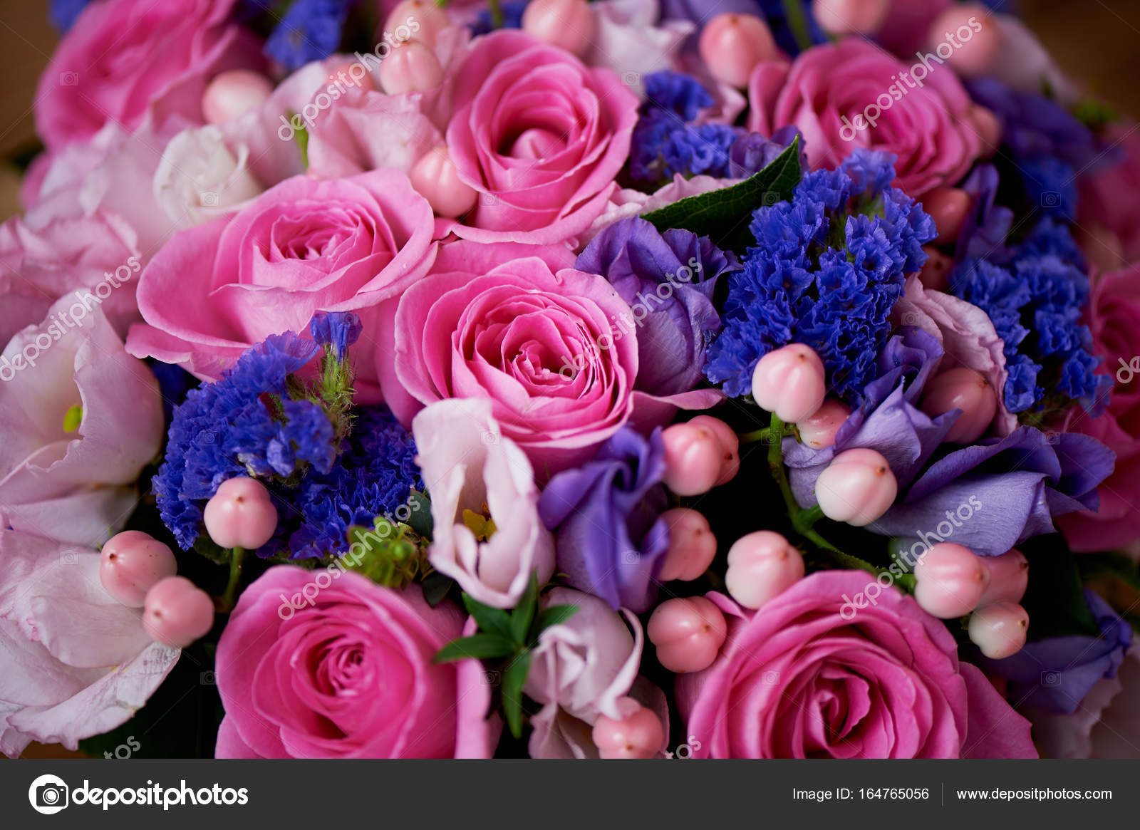 Wedding Bouquet In Pink And Purple Tones Beautiful And Delicate