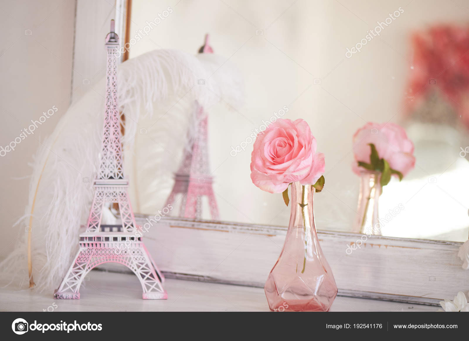 Travelling To France Romance In Pink Miniature Eiffel Tower