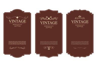 set of vintage label old fashion. Banner vintage.