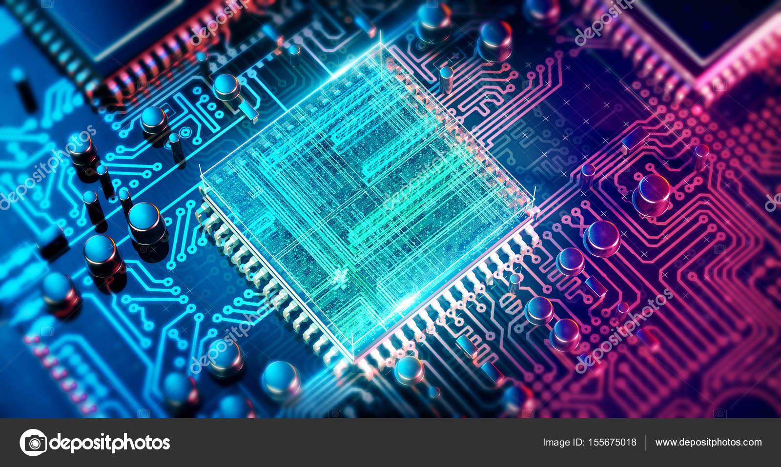 回路基板です 電子計算機ハードウェア技術 マザーボードのデジタル