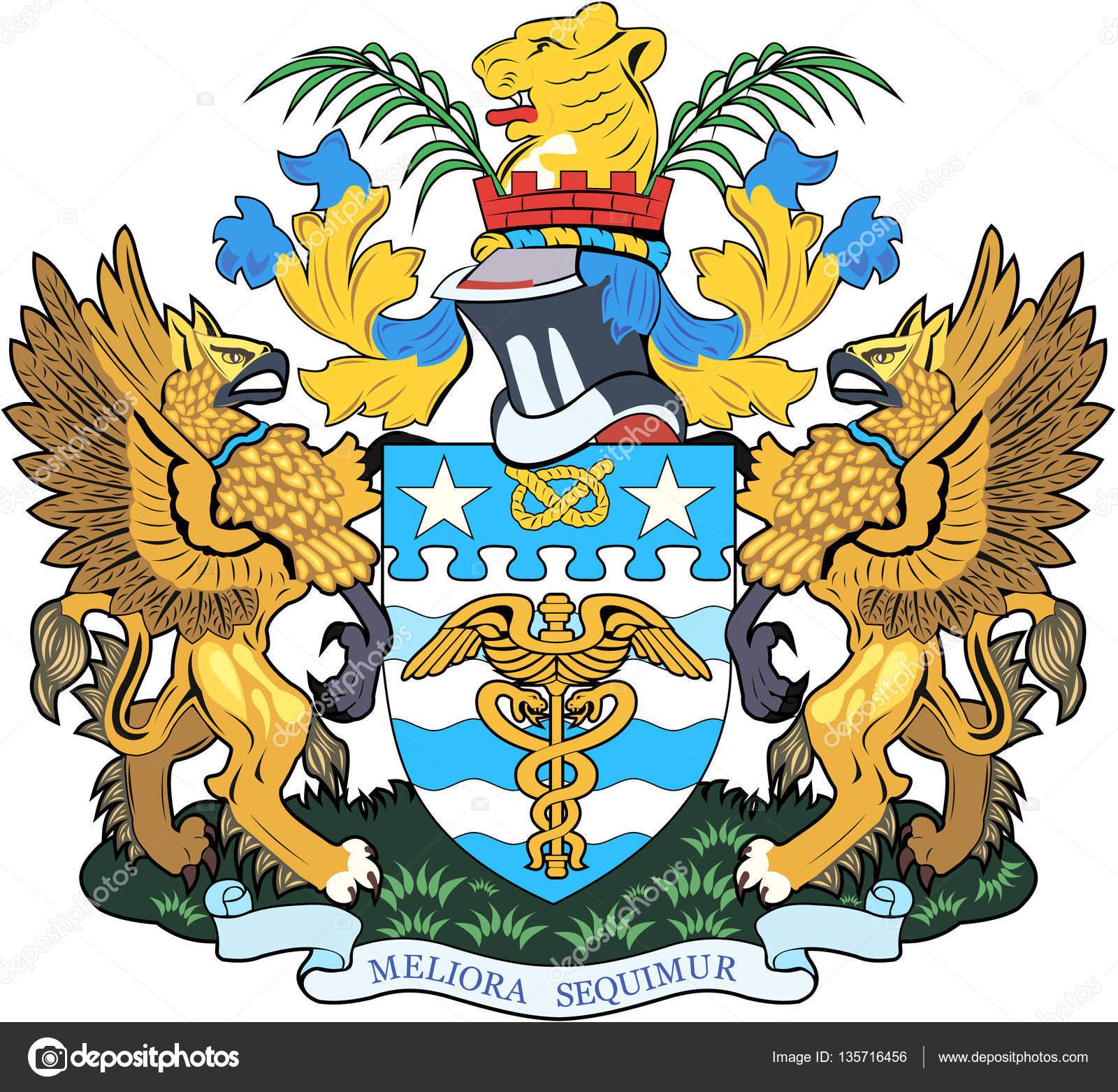 Wappen der Stadt Brisbane. Australien — Stockfoto © MAKEEVVLADIMIR ...