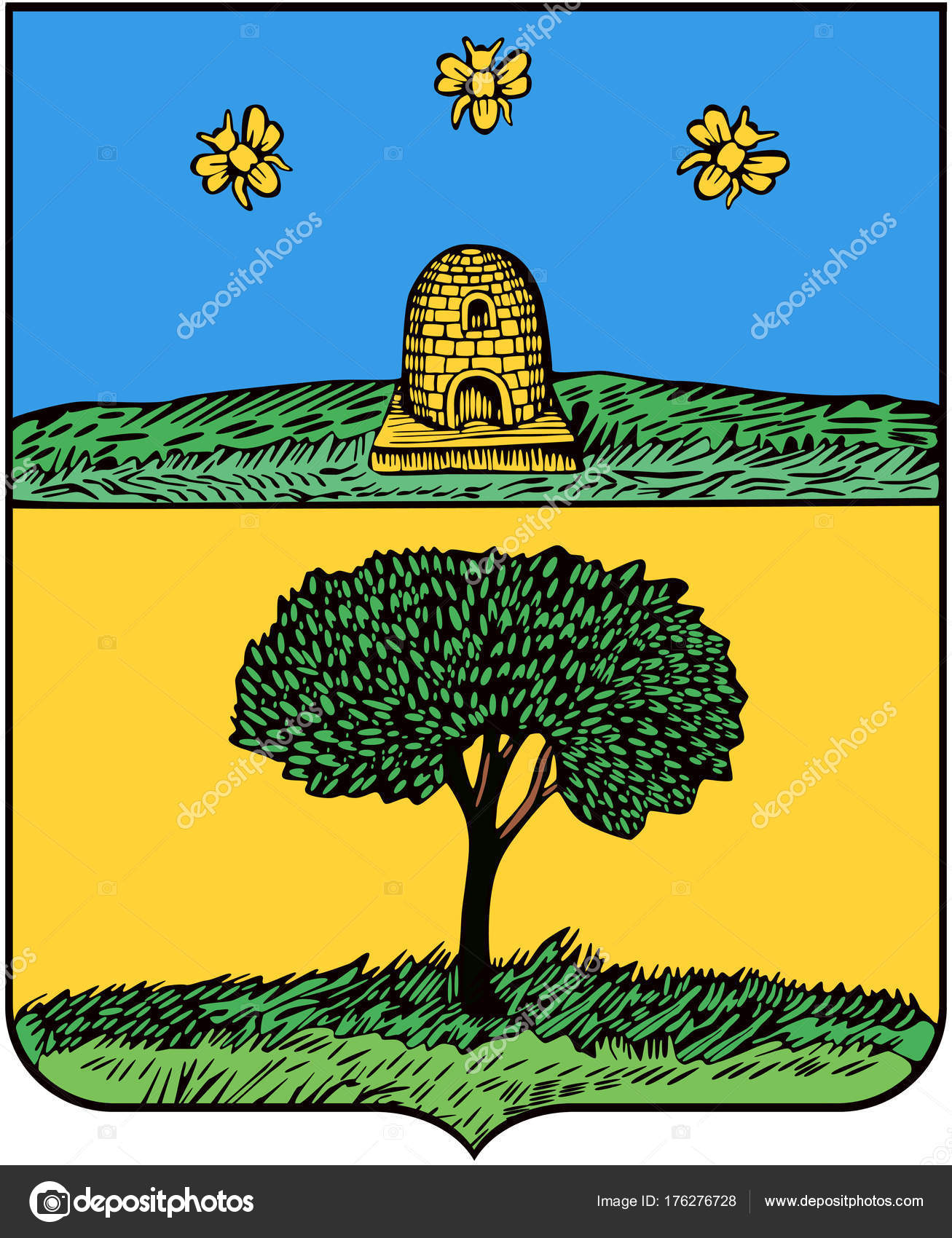 1781 年リペツク市の紋章 — スト...
