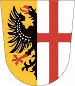 Fotografie Das Wappen der Stadt Memmingen. Deutschland