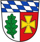 Wappen des Bezirks Aichach-Friedberg. Deutschland