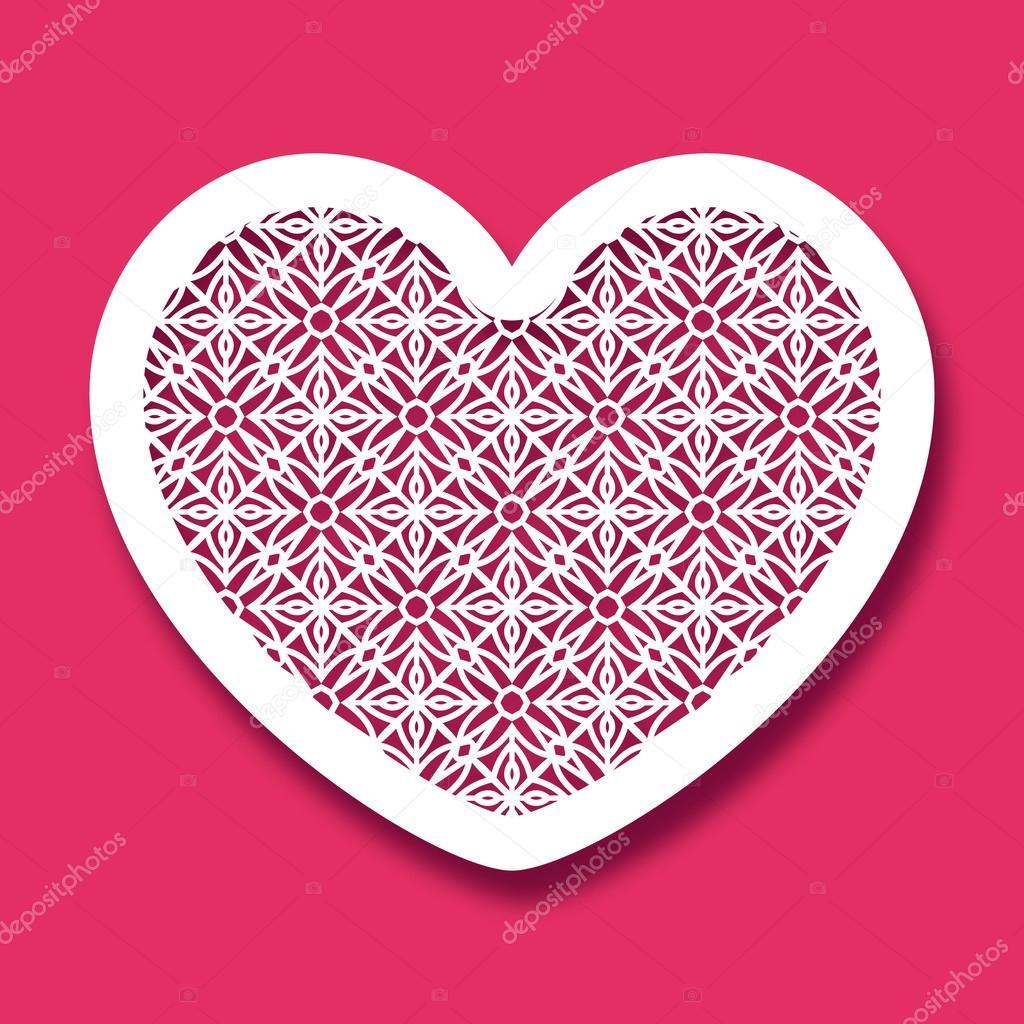 Bien connu Saint-Valentin avec motif géométrique. Gabarit de découpe laser  CR46