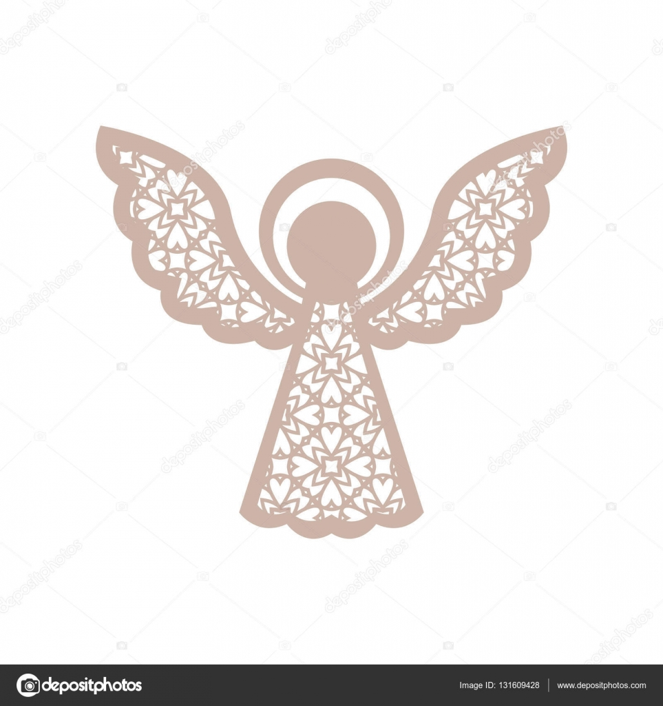 christmas angel with geometric pattern laser cutting. Black Bedroom Furniture Sets. Home Design Ideas