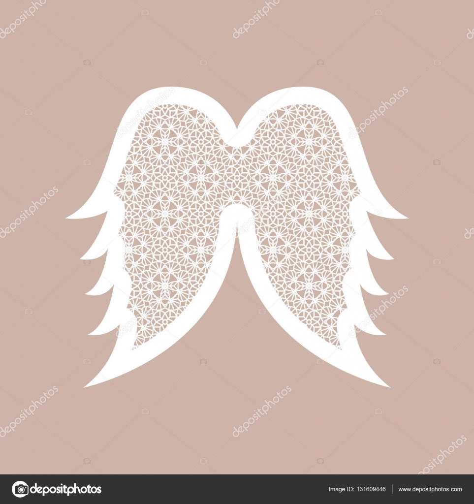 christmas angel wings with geometric pattern laser cutting temp
