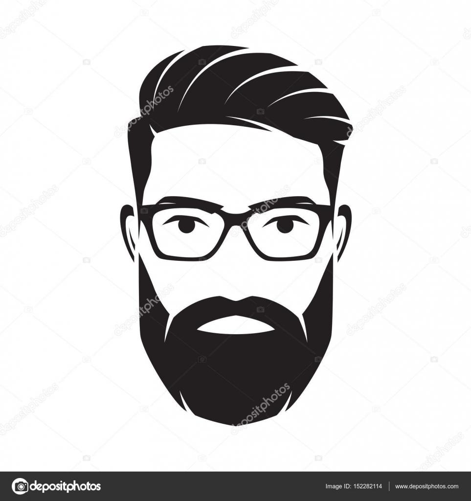 Bearded Men Face Hipster Character Vector Illustration Stock Vector Rikkyal 152282114