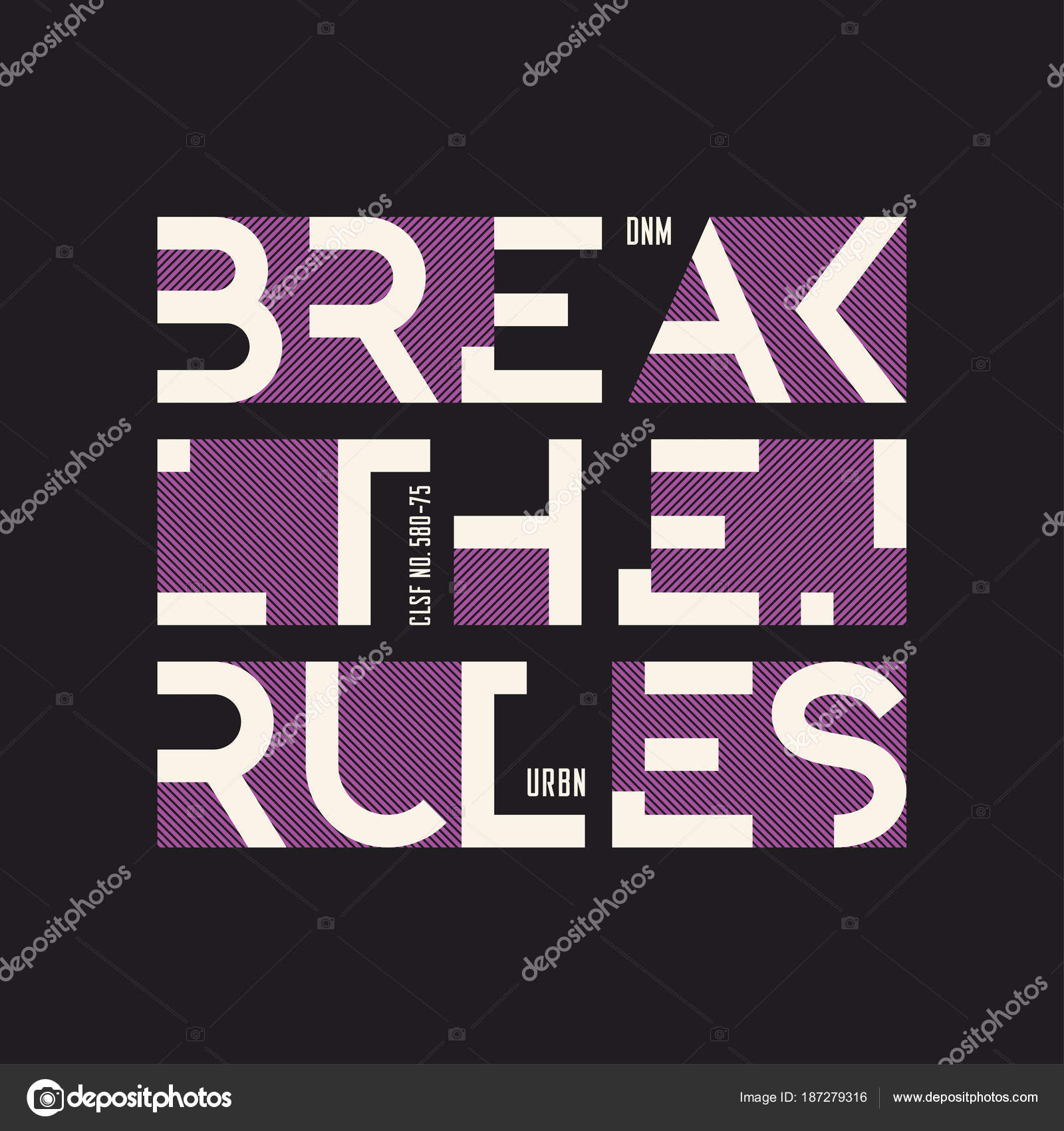 Break The Rules Abstract Geometric Vector T Shirt And Apparel De