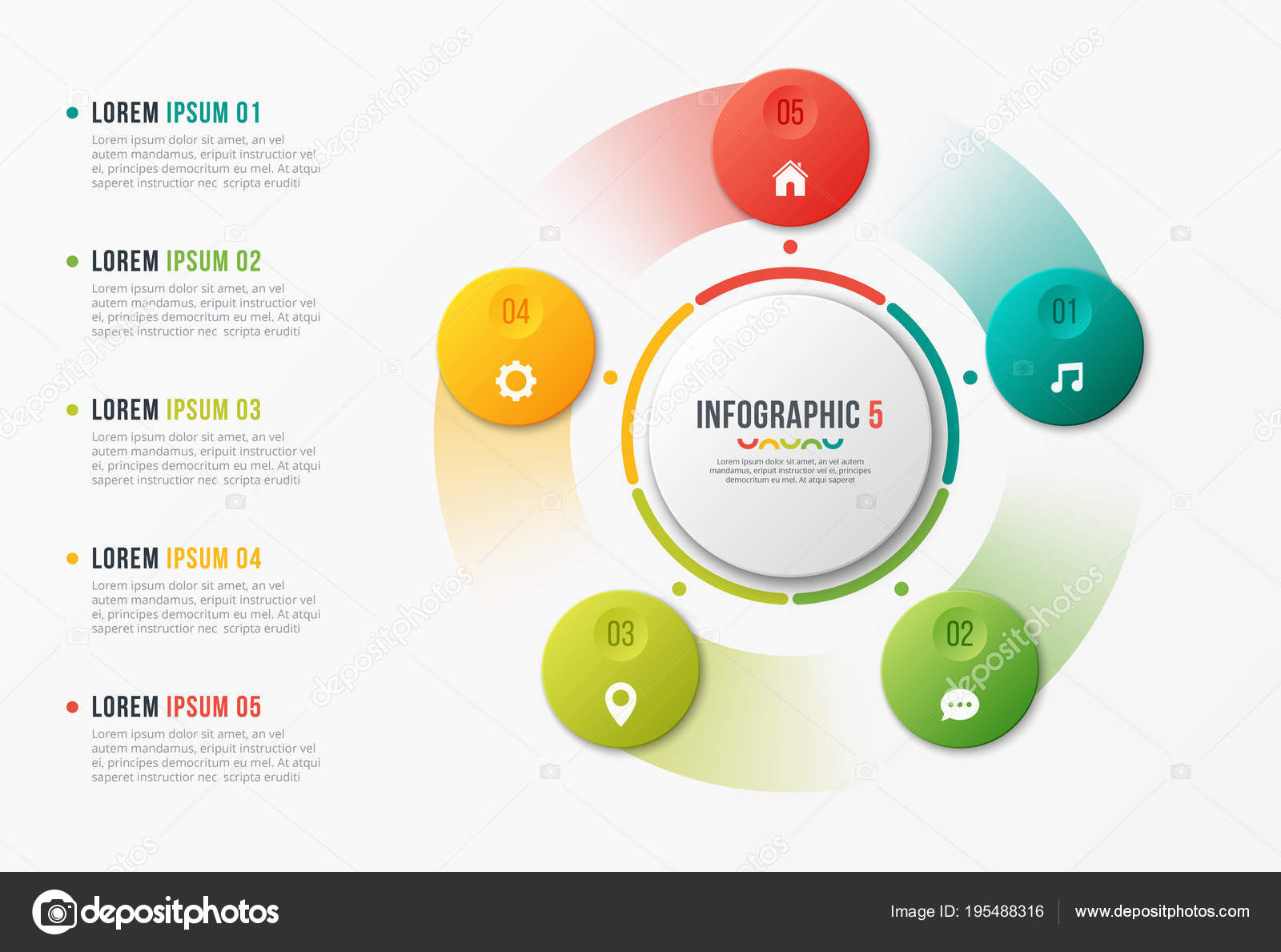 円グラフ テンプレート インフォ グラフィック デザイン 瞑想の特質を